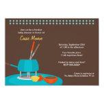 "Fondue Baby Shower Invitation 5"" X 7"" Invitation Card"