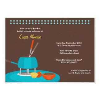 "Fondue Bridal Shower Invitation 5"" X 7"" Invitation Card"