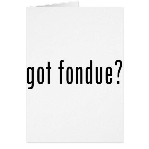 "¿""fondue"" conseguida? tarjeton"