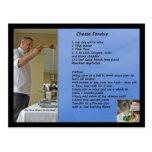 """""""fondue"""" de la receta de la """"fondue"""" de queso tarjeta postal"""