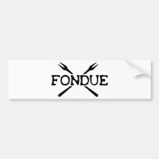 fondue icon bumper sticker