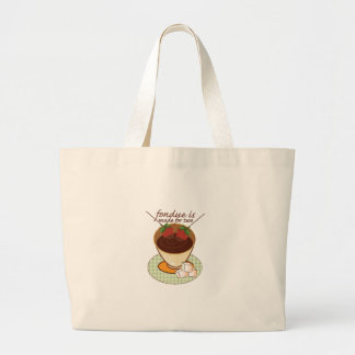 Fondue Is Made For Two Canvas Bag