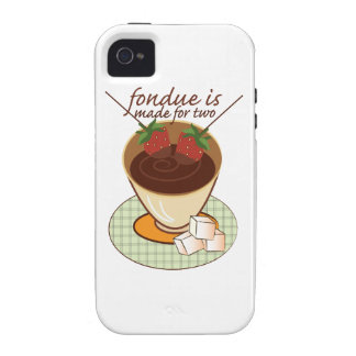 Fondue Is Made For Two Vibe iPhone 4 Cover