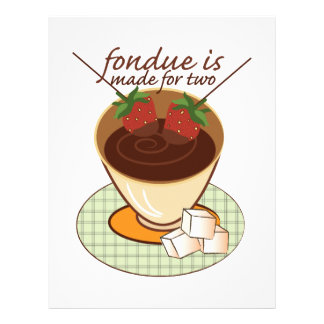 Fondue Is Made For Two Customized Letterhead