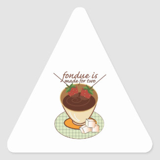 Fondue Is Made For Two Sticker