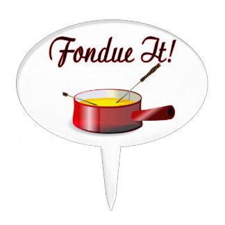 Fondue It Fondue Set Cake Topper