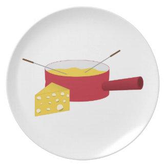 Fondue Melamine Plate