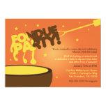 Fondue Party Invitation - Cheese