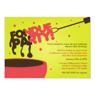 Fondue Party Invitation - Chocolate