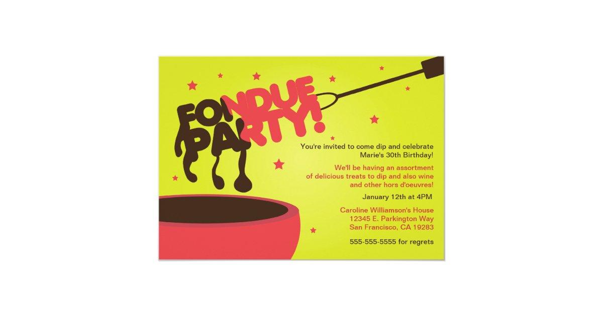 Fondue Party Invitation - Chocolate   Zazzle.com