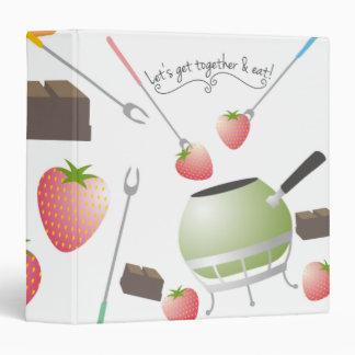 fondue party strawberrie chocolate recipe binder