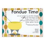 Fondue Time! 3.5x5 Paper Invitation Card