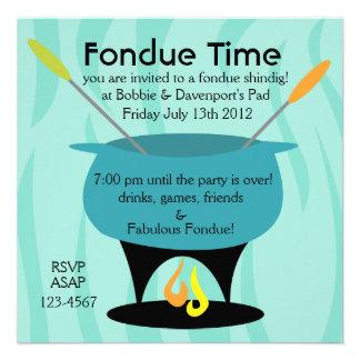 Fondue Time! Invites