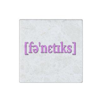 Fonética en IPA. Púrpura Imán De Piedra