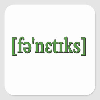 Fonética en IPA. Verde Pegatina Cuadrada