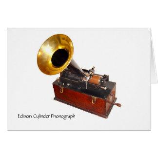 Fonógrafo del cilindro de Edison Tarjetas