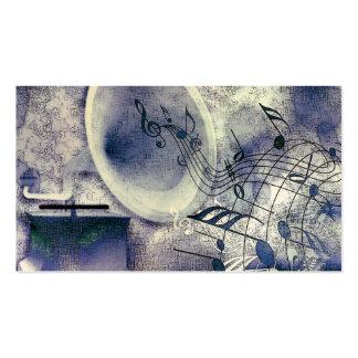 Fonógrafo y música del vintage tarjetas de visita