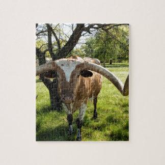 Fonolocalizador de bocinas grandes Bull de Tejas Rompecabeza Con Fotos