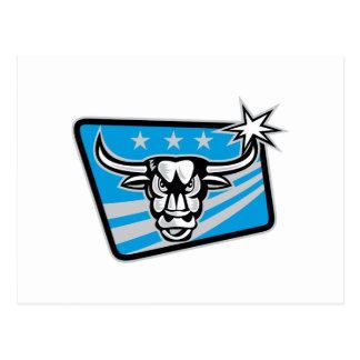 Fonolocalizador de bocinas grandes Bull de Tejas r Postal