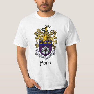 Fons Family Crest/Coat of Arms T-Shirt