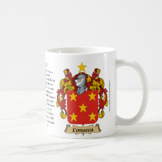 Fonseca, el origen, el significado y el escudo taza clásica