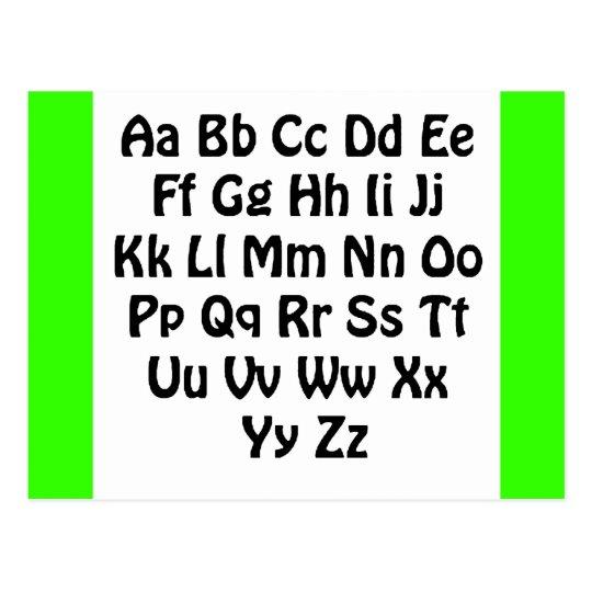 Font02 Alphabet Postcard