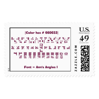 Font = Ann's Angles I Postage