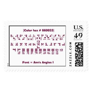 Font = Ann's Angles I Postage Stamp