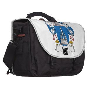 Font Family Crest Bag For Laptop