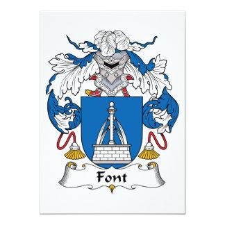Font Family Crest Invite