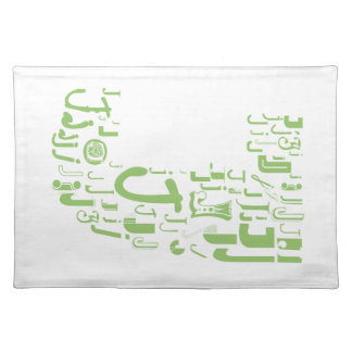 Font Fashion J Cloth Placemat