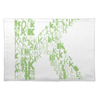 Font Fashion K Cloth Placemat
