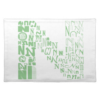 Font Fashion N Cloth Placemat