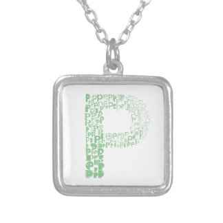 Font Fashion P Silver Plated Necklace