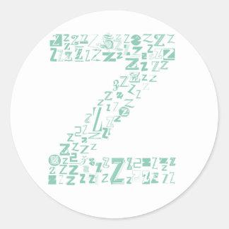 Font Fashion Z Classic Round Sticker