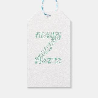 Font Fashion Z Gift Tags