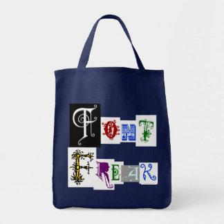 Font Freak Funny Typography Saying Tote Bag