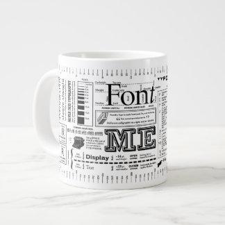 Font Me Typography ExtraBold Edition Large Coffee Mug