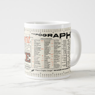 Font Me Typography FLOMMIST Edition Large Coffee Mug