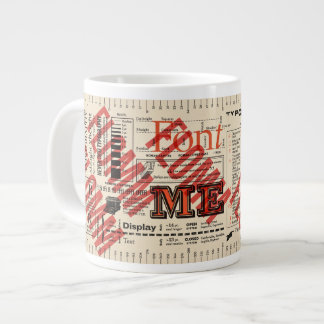 Font Me Typography FLommwoorde Edition Giant Coffee Mug