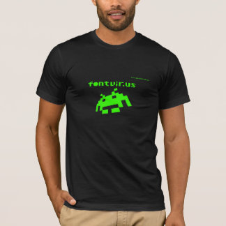 Font Virus Neon Design T-Shirt