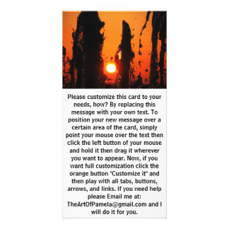 Fontain Water at Sunset Card
