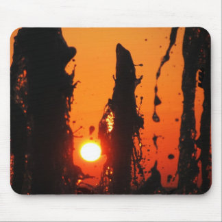 Fontain Water at Sunset Mouse Pad