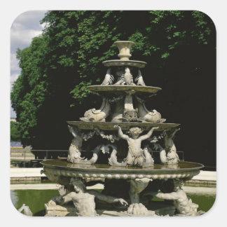 Fontaine de la Pyramide Square Sticker