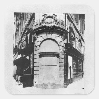Fontaine de la Reine, rue Saint-Denis, Paris Square Sticker
