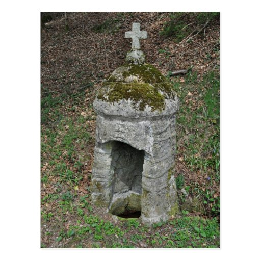 Fontaine de piedra antiguo tarjetas postales