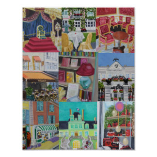 Fontainebleau Collage Print/Poster Poster