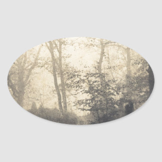 Fontainebleau Forest Oval Sticker
