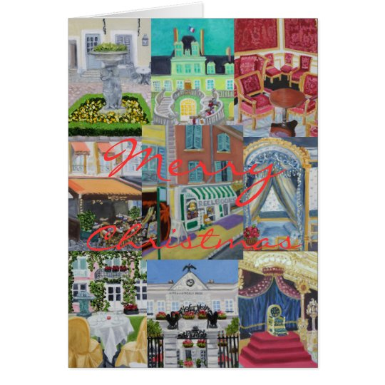 Fontainebleau Merry Christmas Collage Card