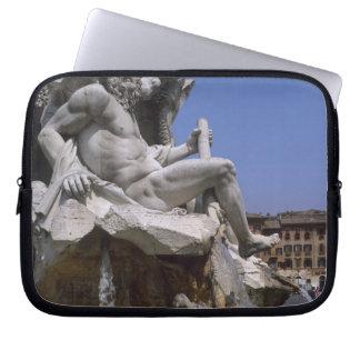 Fontana dei Quattro Fiumi, Piazza Navona, Rome, Laptop Sleeve